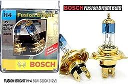 BOSCH Car Halogen Headlight GOLD Blue COATING H4 FUSION Bright Bulb 12V 60/ 55W