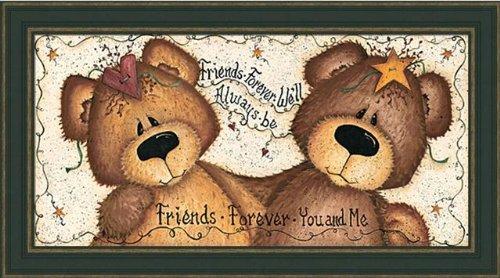 Friends Forever-You-Me-Teddy Bear-Framed Art