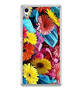 Colourful Flowers 2D Hard Polycarbonate Designer Back Case Cover for Sony Xperia Z4