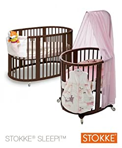 stokke sleepi babybett kinderbett minibett oval. Black Bedroom Furniture Sets. Home Design Ideas