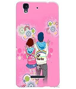 Fuson Love Couple Back Case Cover for MICROMAX YU YUREKA - D3983