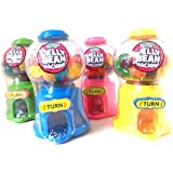 4 x Mini Jelly Beans Machine - Fun Sweets Dispenser PINK BLUE GREEN YELLOW