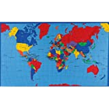1 X Multi Panel Map World Multi Fabric by Fabric Traditions