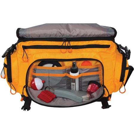 Spiderwire soft sided tackle bag orange sporting goods for Spiderwire fishing backpack