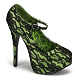 Bordello TEEZE-07L - sexy burlesque high heels with lace - sizes 3,5-9