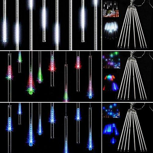 8 Falling Rain Drop/Icicle Snow Fall String Led Xmas Tree Cascading Light Decor