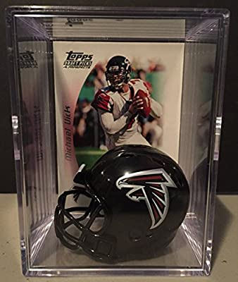 Atlanta Falcons NFL Helmet Shadowbox w/ Michael Vick card