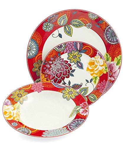 660ace51d68cfd Villa d Este Home Tivoli Maui Service de Table 18 Pièces, Porcelaine, ...