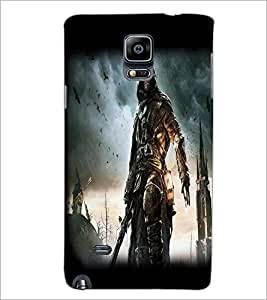 PrintDhaba Warrior D-2051 Back Case Cover for SAMSUNG GALAXY NOTE 2 (Multi-Coloured)
