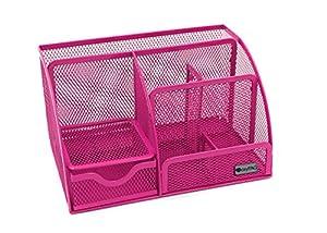 Easypag environmental mesh desk organizer - Pink desk organizer ...