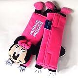 Disney Minnie Mouse Design Multi Use Auto Car seat belt cover Plush Seat Shoulder Pad Cushion 2 pcs One Pair