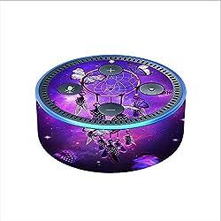 Skin Decal Vinyl Wrap for Amazon Echo Dot 2 (2nd generation) / Dreamcatcher Butterflies Purple