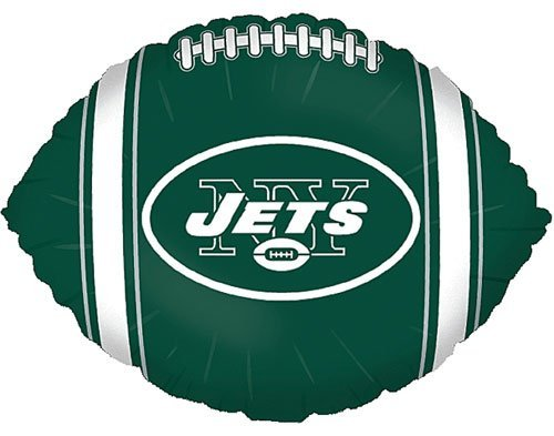 "Anagram International New York Jets Flat Party Balloons, 18"", Multicolor"