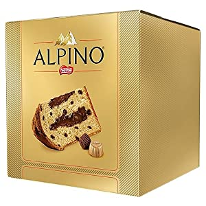 Panettone Nestlé Alpino with Chocolate Drops and Chocolate Filling - 17.64 oz | Panettone Nestlé de Chocolate Alpino - 500 g - (PACK OF 08)