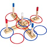Tailgate360 Ring Toss 100 Percent Pine Wood - 8 Rings Included
