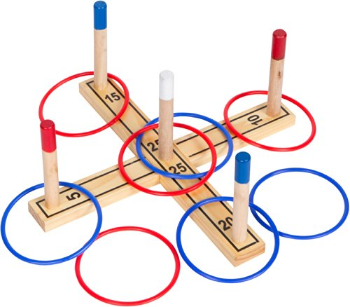 Trademark Innovations Ring Toss 100% Pine Wood - 8 Rings Included front-602721
