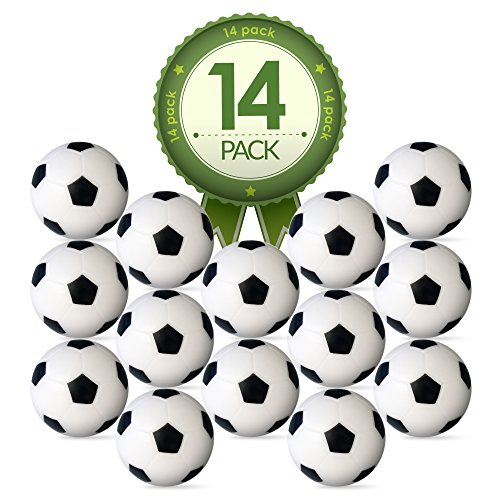 Check Out This Foosball Table Replacement Foosballs- 14 Pack - 36mm Game Table Size - Black and Whit...