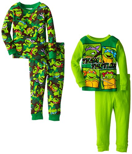Teenage Mutant Ninja Turtles Little Boys' Team Turtle 4-Piece Pajama Set
