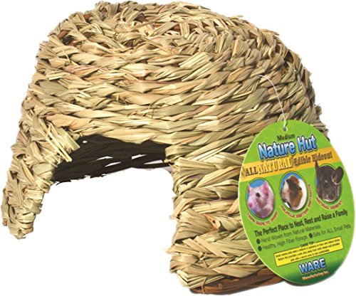 Ware Manufacturing Natural Willow and Grass Pet Hut for Small Pets, Medium (Ware Manufacturing compare prices)
