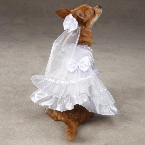 Small Dog Wedding Dress W/veil Fits Dogs 8 - 16 Lbs [Misc.]