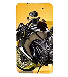Fuson Premium Sports Bike Printed Hard Plastic Back Case Cover for HTC One Max
