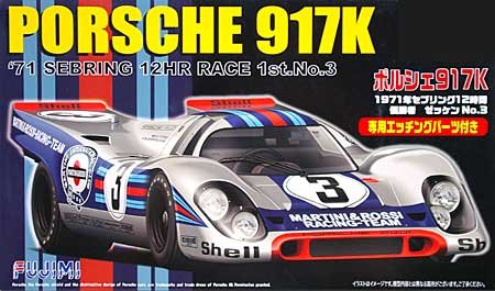 1/24 Scale Porsche 917K 71' Sebring 12-Hour Race 1st No. 3 Construction Kit