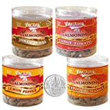 Chocholik Dry Fruits - Almonds Jamaican Jerk, Tandoori Masala, Tangy Tomato & Lemon Pepper With 5gm Pure Silver...