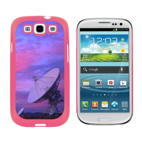 Very Large Array Vla Radar Telescope Dishes New Mexico At Sunset - Snap On Hard Protective Case For Samsung Galaxy S3 - Pink