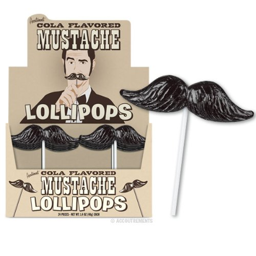 Mustache Lollipop