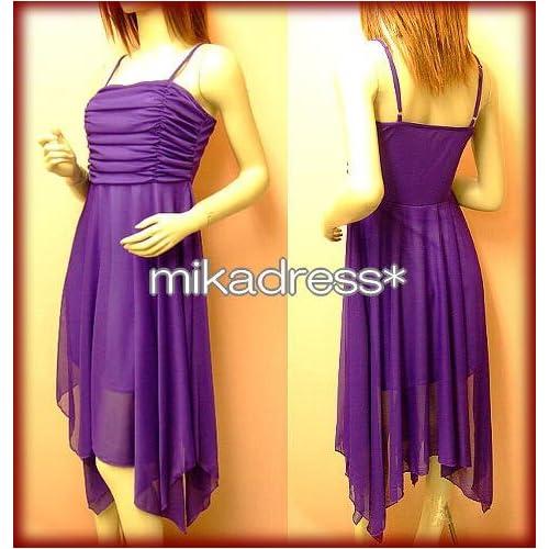 パープル 紫 大人気の定番ドレス ダンス衣装 パステルカラーのひらひらワンピドレス  パーティードレス 通販ミカドレス 結婚式ドレス 選べるカラー【d2-am】