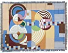 Frank Lloyd Wright Architecture Hoffman House Carpet Tapestry Throw Blanket