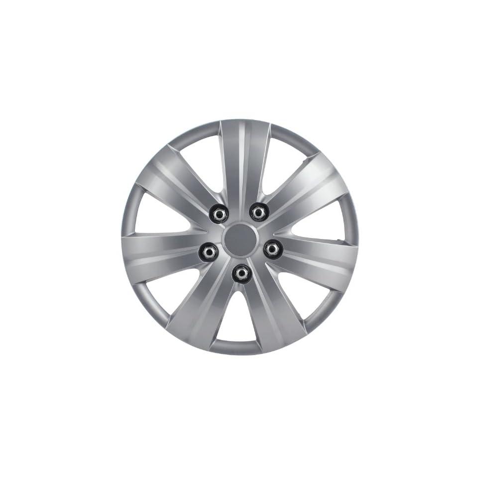 Pilot Automotive WH523 14S BX Matte Silver 7 Spoke 14 Wheel Cover, (Set of 4)