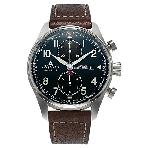 Alpina-Mens-STARTIMER-PILOT-Automatic-Stainless-Steel-and-Leather-Casual-Watch-ColorBrown-Model-AL-725N4S6