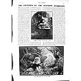 La Impresión Antigua del Arte 1901 de Glasgow Luther Erfurt Noel Paton Acuartela el Chino de Umvoti del Escudo...