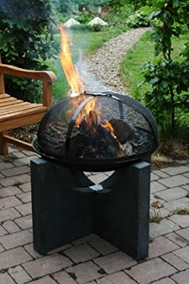 Fallen Fruits Metal Fire Guard For Fire Bowl by Esschert