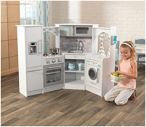 Kidkraft Corner Kitchen: KidKraft Ultimate Corner Play Kitchen With Lights & Sounds