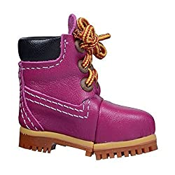 4GB USB Flash Drives Creative Leather High Boots Shoes U Disk,Rose Red