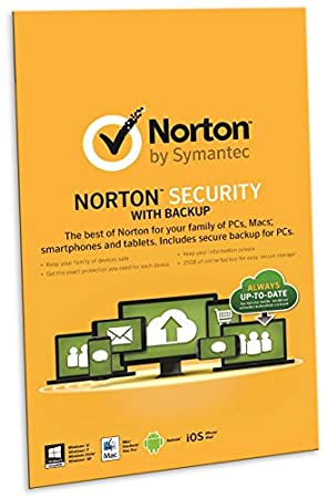 Norton Security With Backup 2.0 25Gb in 1 User 10 Devices (PC)