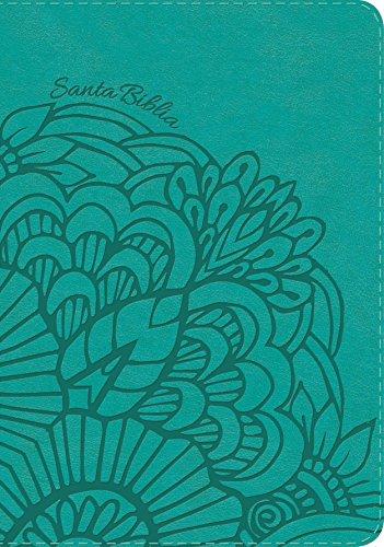 RVR 1960 Biblia Letra Gigante aqua, simil piel  (Tapa Dura)