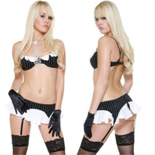 ForPlay Pimpstress - Sexy Mobster Girl Costume 556024