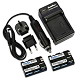 MaximalPower FC500 Travel Charger with Two Replacement Battery for Canon BP-511, EOS 5D, 50D, 40D Cameras