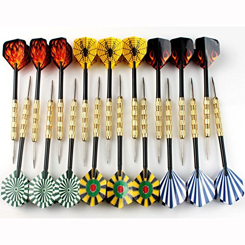 Review Viare 18 Pcs 6 Styles Stainless Steel Needle Tip Darts,18 Grams