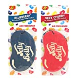 JELLY BELLY TWIN PACK 2D BEAN SWEETS SCENT CAR AIR FRESHENER - BLUEBERRY + VERY CHERRY
