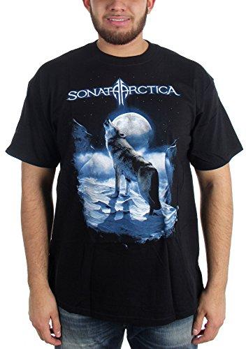 Sonata Arctica-Howling Wolf-Maglietta da adulto, colore: nero nero