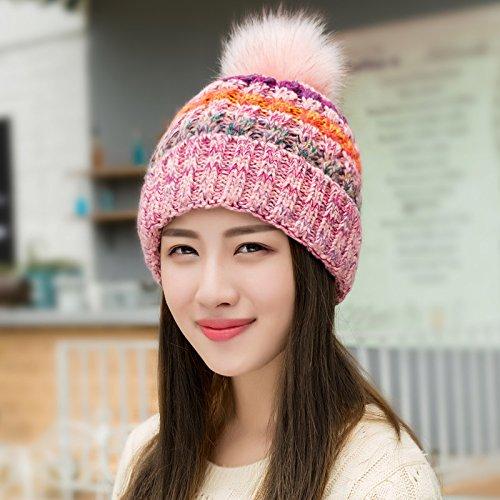 YangR*Cappelli invernali bambini marea magia elegante colore, tessitura a maglia cappello di lana spessi caldo inverno invernale incantevole hat , la signora Rosa