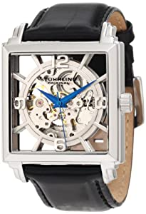 Stuhrling Original Men's Lifestyles Winchester Plaza Automatic Skeleton Watch Silver 333.33152