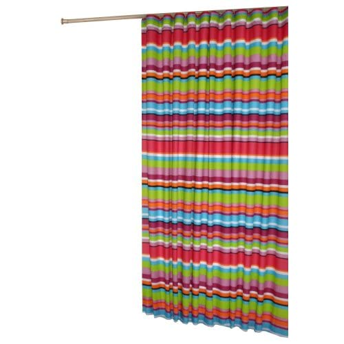 in style catalina shower curtain bright with multi colored stripes