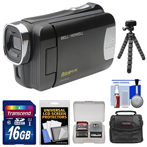 bell-howell-dnv6hd-rogue-infrared-night-vision-1080p-hd-video-camera-camcorder-black-with-16gb-card-