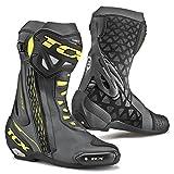 TCX RT-Race Race Track Sports Motorbike Motorcycle Boots - Black/Yellow 44 (Color: Black, Tamaño: 44 EU)