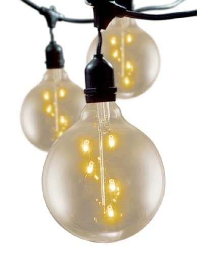 Bulbrite Starlight 5 Spiral Globe 15-Light Indoor/Outdoor String, Clear As You See